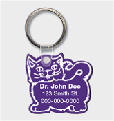 Cat Key Tag